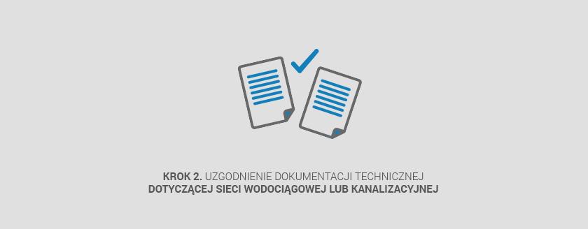 Krok 2. uzgodnienia dokumentacji technicznej dotyczącej sieci wodociągowej lub kanalizacyjnej